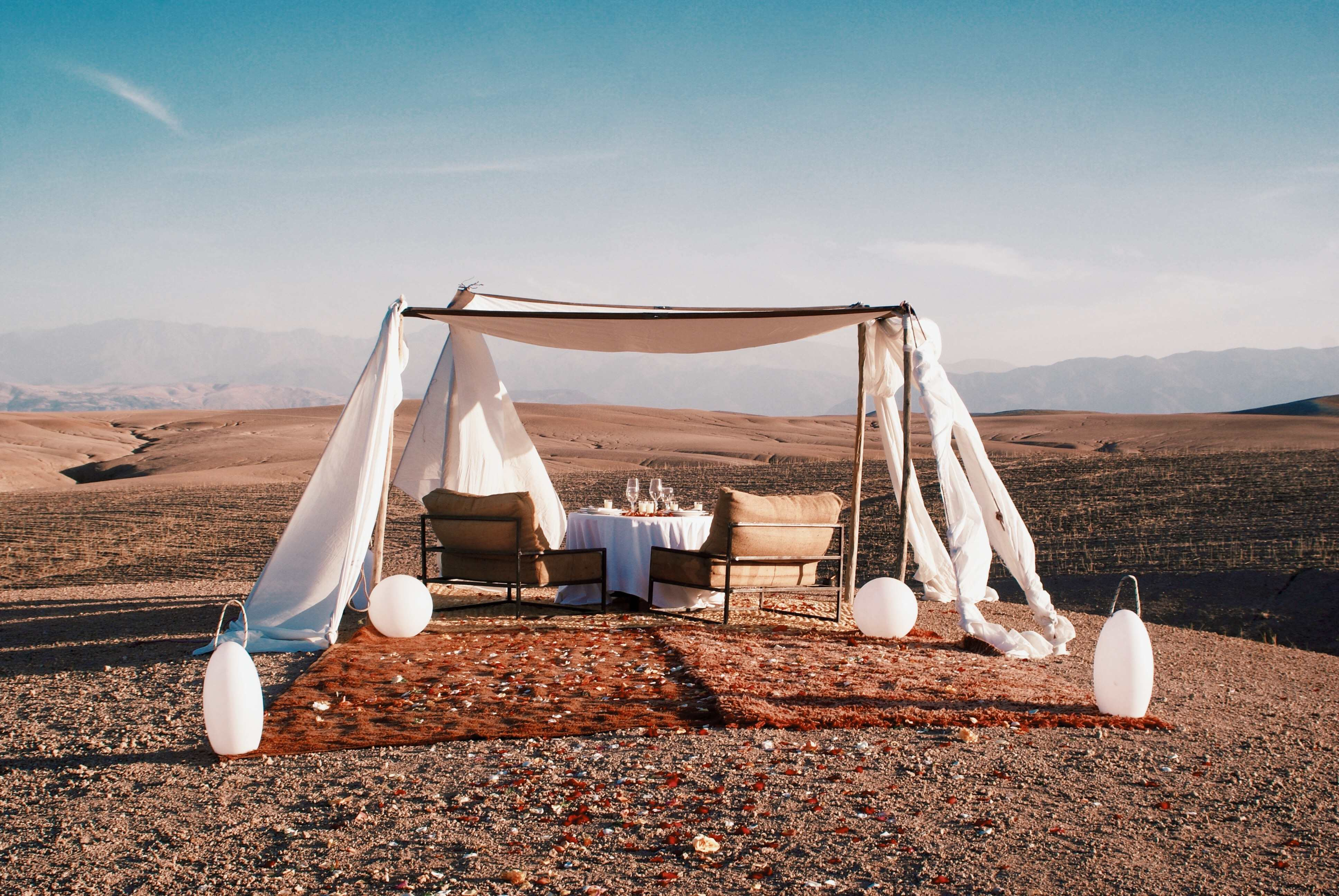 agafay inara desert camp view